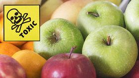 Zamořená jablka a citrusy po celé EU: Obsahují pesticidy, které mohou poškodit mozek