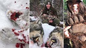 Zakrvácená lovkyně (29) je hvězdou Instagramu: Zdravotní sestře vyhrožují znásilněním