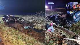 Tragédie na Kolínsku: Mladý řidič (†18) nepřežil náraz do stromu!