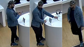 Jen pár vteřin a luxusní mobil mu skončil v kapse. Policie prosí veřejnost: Poznáváte zloděje?