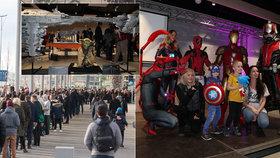 Víc než fotbalový zápas: První pražský Comic-Con přilákal desetitíce návštěvníků