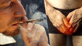 Muž měl 12 hodin erekci, protože kouřil příliš mnoho marihuany!