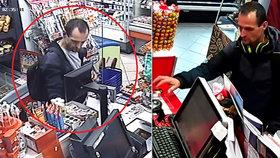 Jedl za cizí peníze: Gauner zaplatil nákup kradenou kartou, zkusil to ještě čtyřikrát! Hledá ho policie
