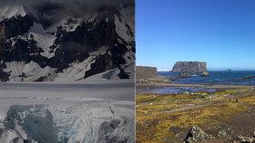 Antarktida by mohla zezelenat. Na sněhu vlivem trusu a klimatických změn rostou řasy