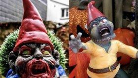 Zombie zahradní trpaslíci jsou hit! Budou strašit i na vaší zahradě?