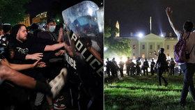 """Amerika v plamenech: Protesty se přesunuly před Bílý dům, Trump hrozí """"nejzlejšími psy"""""""
