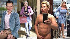 Z živého Kena prsatou Barbie! Jak se Rodrigo Alves postupně měnil? Do proměny zasáhla i Praha