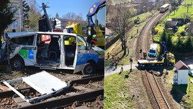 Pacient zemřel po srážce sanitky s vlakem: Řidič dostal podmínku
