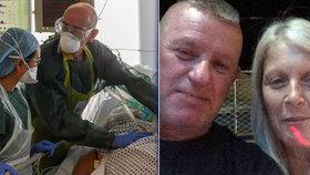 Muž s virem bojoval 65 dní, rodině mizel před očima. Zhubl 38 kilo a bude se ženit