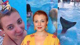Anička Slováčková si splnila dětský sen! Proměnila se ve vodní stvoření
