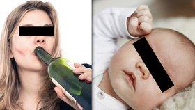 Krkavčí matka popíjela se synkem (14 měs.) v mrazu: Nadýchala přes tři promile!