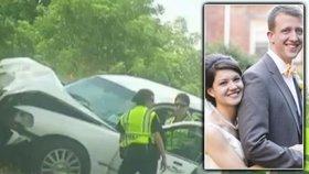 Novomanželé zemřeli při autonehodě tři měsíce po svatbě: Nevěsta (†25) byla těhotná!