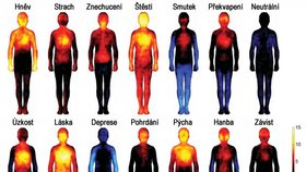 Unikátní teplotní mapa těla: Jak vás rozpálí emoce?
