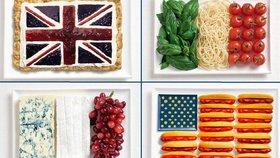 Vlajky k nakousnutí: Státní symboly stvořené z národních pokrmů
