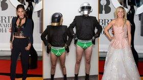 Hudební ceny Brit Awards: Daft Punk ve slipech a domina!