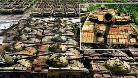 Vrakoviště tanků na Ukrajině: Mohly jim zachránit krky! Měli se o ně lépe starat