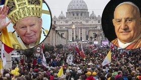 Ve Vatikánu budou svatořečeni dva papežové: Na obřad čekají statisíce lidí