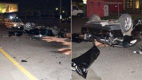 Strašlivá nehoda: Z mercedesu zbylo pár plechů, posádka zázrakem přežila!