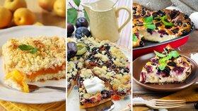 4 recepty na nejlepší koláče s drobenkou a ovocem