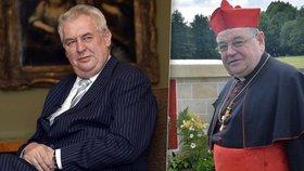 """Zeman napíše papeži, aby prodloužil Dukovi mandát. Kritiky označil za """"udavače a pisklouny"""""""