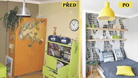 Proměna dětského pokoje: Nevkusný nábytek je pryč!