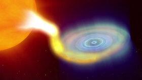 Černá díra se po 26 letech probudila. Je desetkrát těžší než Slunce