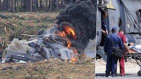 Bitevní vrtulník v Rusku vybuchl nedaleko tribun s diváky. Jeden z pilotů zemřel