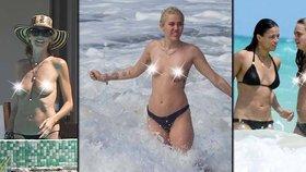 Odvážné hvězdičky: Takhle to vypadá, když celebrity na pláži odhodí podprsenku