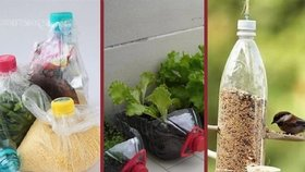 6 praktických věcí, které můžete vyrobit z prázdné PET lahve