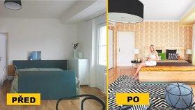 Proměna ložnice: Zajímavá tapeta, barevná stěna a závěsy změnily pokoj k nepoznání
