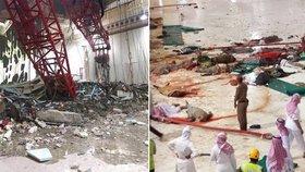 Pohroma v zaplněné mešitě: Přes sto mrtvých po pádu jeřábu