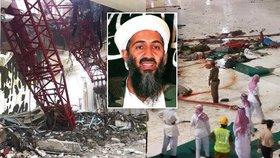 Krvavé neštěstí v Mekce: Zřícený jeřáb patřil rodině teroristy Bin Ládina