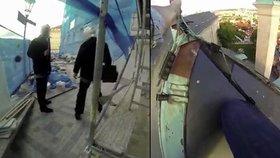 Takhle vyvěsili rudé trenky: Ztohoven ukázali, jak šplhali na střechu Hradu