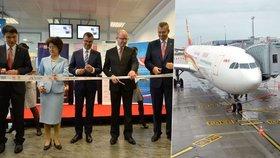 Česko jako čínská brána do Evropy: Na Ruzyni přistálo první letadlo z Pekingu