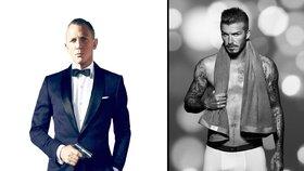 David Beckham jako James Bond? Líbil by se vám víc jak Daniel Craig?