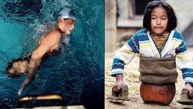 Basketbalová dívka bez noh překonala nepřízeň osudu: Stala se zlatou plavkyní!