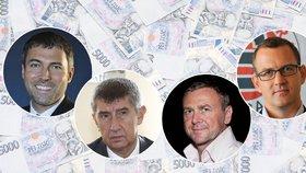 Nejbohatší Češi: Babiš ztratil 20 miliard, majetek nejvíc zhodnotil Křetínský