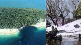 Australská pláž se propadla do moře! Vcucla do sebe i několik aut
