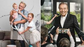 Úchvatné fotky slavných dětí: Menzel s dcerkami, Gott v obležení novinářů