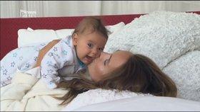 Pyšná Lucka Vondráčková: Tohle je můj syn Adámek!