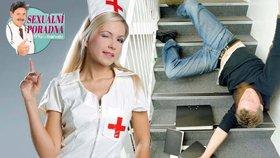 Sexuální poradna: Vzrušují mě sestřičky, proto skáču ze schodů, aby mě ošetřovaly!