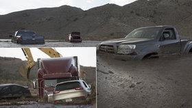 Čtyři centimetry srážek a v Kalifornii je bahna po krk: Odklízení bude trvat měsíce