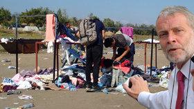 Migranti si neváží pomoci od sluníčkářů a plýtvají s ní, tvrdí senátor