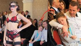 Výživový poradce Havlíček vzal desetiletou dceru na přehlídku prádla: Usnula mu v náručí!