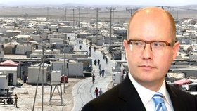 Česko věnuje Jordánsku 100 milionů, aby zvládlo běžence. Sobotka pošle i lékaře