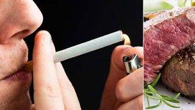 Dvojí metr na rakovinu? Karcinogenní uzené úřadu nevadí, kouření ano