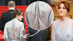 Vévodkyně Kate na premiéře bondovky zastínila i agenta 007: Přišla bez podprsenky!