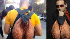 Pytel srandy: Módní batoh pro muže, kteří mají koule, vypadá jako šourek