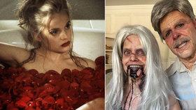Kráska z Americké krásy se připravila na Halloween: Je z ní americká hrůza!