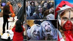 Jedlé oční bulvy, zombie i mimino jako papež: Jak svět slaví Halloween